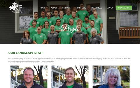 Screenshot of Team Page kflandscapes.com - KF Landscape Staff - Dedicated to Integrity and Trust for 12 years - captured Oct. 14, 2018