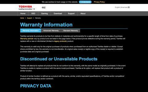 OCZ SSD Warranty