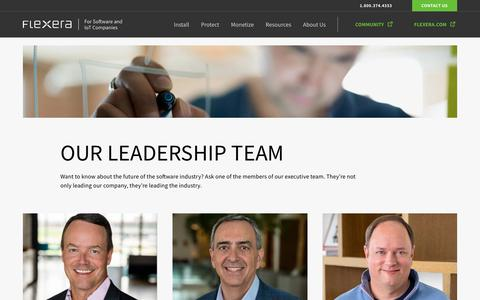 Screenshot of Team Page flexerasoftware.com - Leadership Team | Flexera - captured March 20, 2019