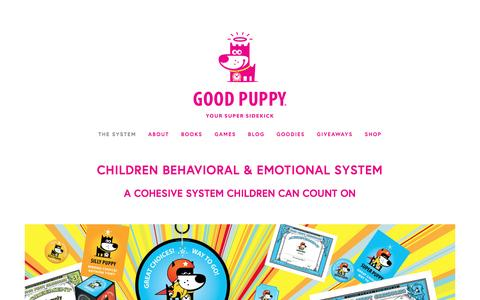 Screenshot of Home Page goodpuppy.com - GOOD PUPPY — Children Behavioral & Emotional Tools, Books & Games - captured May 22, 2017