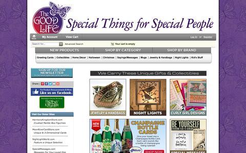 Screenshot of thegoodlifestore.com - TheGoodLifeStore.com, Great Gifts and Collectibles - captured June 18, 2016