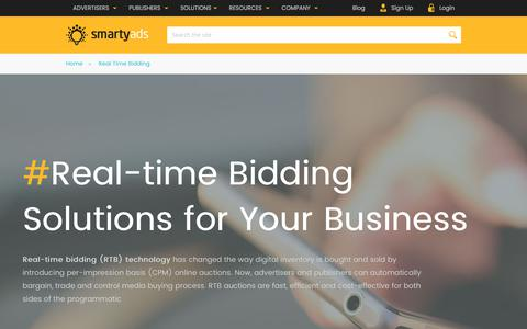 Screenshot of smartyads.com - Real Time Bidding Advertising Platforms | SmartyAds RTB company - captured May 31, 2017