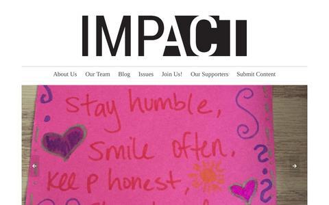 Screenshot of Home Page upennimpact.com - IMPACT | The Social Impact Hub - captured Sept. 21, 2015