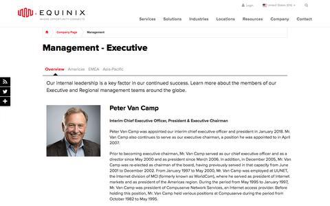 Screenshot of Team Page equinix.com - Management | Equinix - captured April 21, 2018
