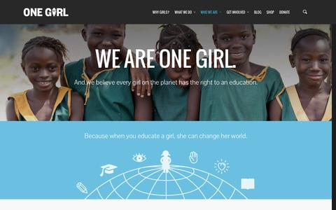 Screenshot of About Page onegirl.org.au - Girl focused charity educating girls in Africa - One Girl - captured Jan. 10, 2016