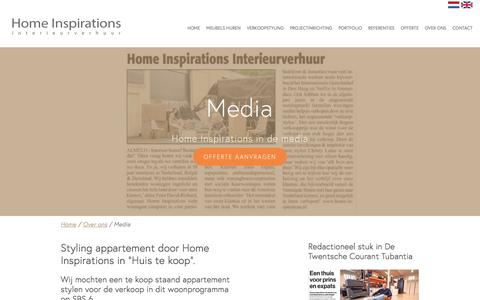 Screenshot of Press Page home-inspirations.nl - Media | Home Inspirations - captured May 20, 2017