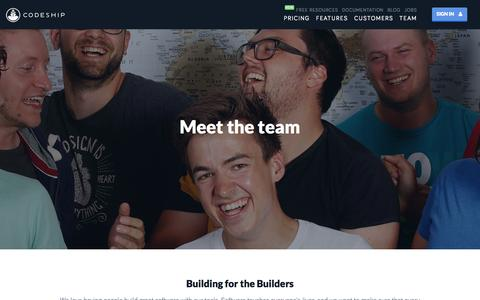 Screenshot of Team Page codeship.com - Team | Codeship - captured Dec. 17, 2014