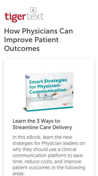 Smart Strategies for Physician Communications TigerText eBook