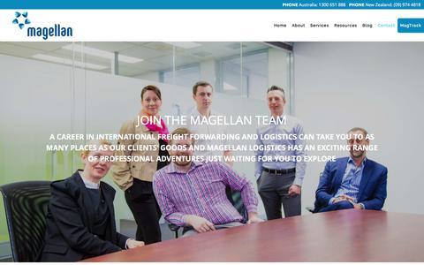 Screenshot of Jobs Page magellanlogistics.com.au - Magellan Logistics » Working at Magellan - captured Dec. 21, 2015