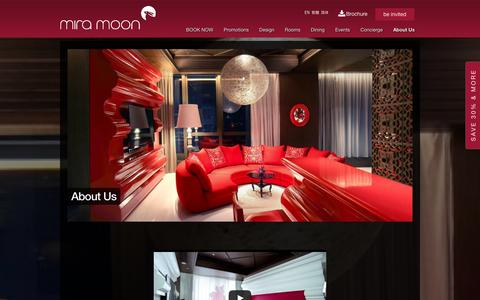 Screenshot of About Page miramoonhotel.com - Causeway Bay Hotel | Hong Kong Boutique Hotel - Miramoon - captured Jan. 19, 2016