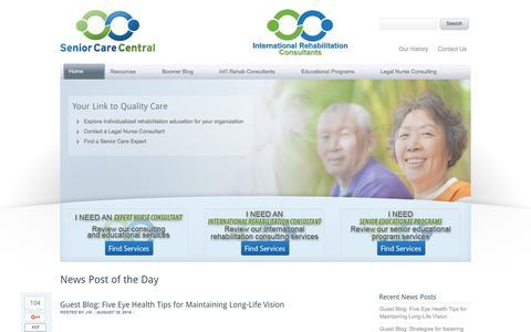 Screenshot of Home Page senior-care-central.com - Senior Care Central » Valparaiso, IN - captured Aug. 18, 2016