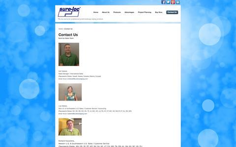 Screenshot of Contact Page surelocedging.com - Contact Us – Sure-Loc Edging - captured Oct. 7, 2014