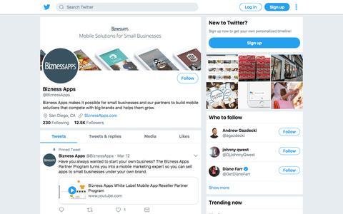 Tweets by Bizness Apps (@BiznessApps) – Twitter