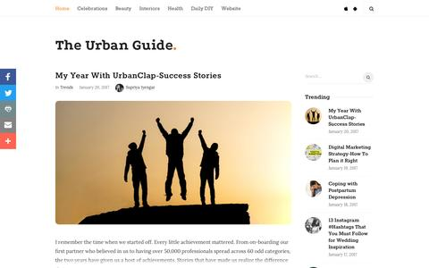 Screenshot of Blog urbanclap.com - The Urban Guide | - captured Jan. 20, 2017
