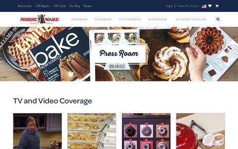 Screenshot of Press Page nordicware.com - Press Room - captured June 29, 2017