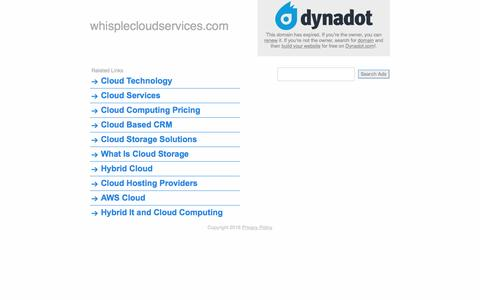 whisplecloudservices.com