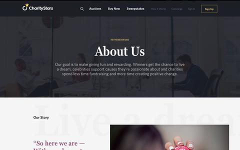 Screenshot of About Page charitystars.com - The Team - CharityStars - captured Sept. 29, 2018