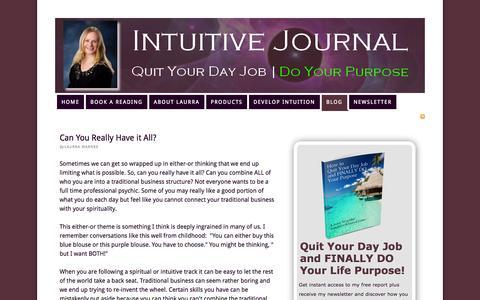 Screenshot of Blog intuitivejournal.com - Intuitive Journal Blog - captured Oct. 31, 2014