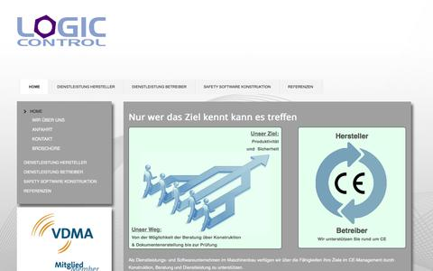 Screenshot of Home Page logic-control.de - Logic-Control CE-Management - captured June 5, 2016