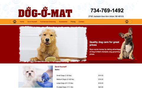 Screenshot of Pricing Page dog-o-mat.com - Dog-O-Mart Prices | Ann Arbor, MI - captured Nov. 1, 2018
