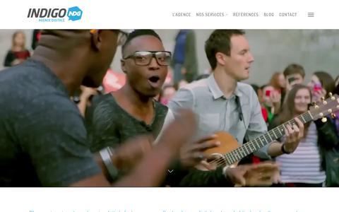 Screenshot of Home Page agence-indigo.com - Agence Digitale de communication web et Social Media - captured Dec. 24, 2015