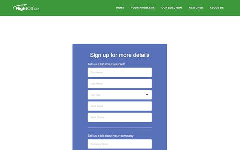 Screenshot of Trial Page flightoffice.com - Sign Up For A Free Trial Of FlightOffice - captured July 13, 2018