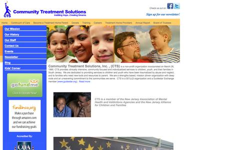 Screenshot of Terms Page ctsnj.org - Community Treatment Solutions > Home - captured Oct. 2, 2014