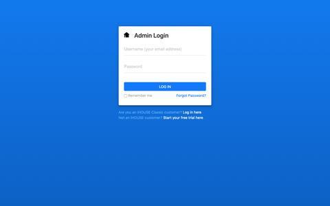 Screenshot of Login Page ihouseweb.com - Log in to IHOUSEweb - captured Nov. 1, 2018
