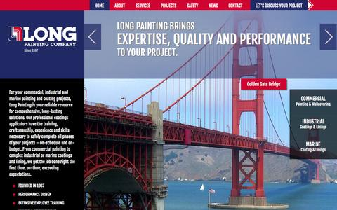 Screenshot of Home Page longpainting.com - Long Painting  Commercial, Industrial, Marine Painting | Long Painting Co. - captured Jan. 23, 2015
