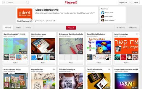 Screenshot of Pinterest Page pinterest.com - juloot interactive on Pinterest - captured Oct. 23, 2014