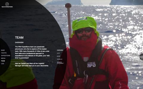 Screenshot of Team Page wildexpeditions.com - Overview :: Team :: WILD EXPEDITIONS - captured Oct. 29, 2014