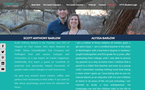 Screenshot of Team Page happentoyourcareer.com - Team - Happen to Your Career - captured July 16, 2018