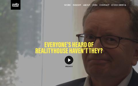 Screenshot of About Page realityhouse.co.uk - Who are realityhouse? - captured Sept. 20, 2018