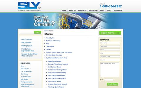 Screenshot of Site Map Page slyinc.com - Sitemap - Sly Inc - captured Oct. 6, 2014