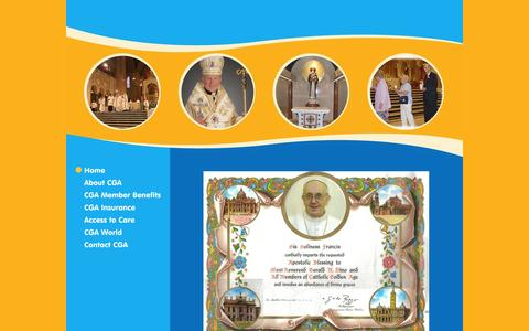 Screenshot of Home Page catholicgoldenage.org - Catholic Golden Age - Home - captured Jan. 28, 2015
