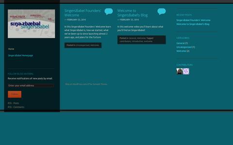 Screenshot of Blog wordpress.com - SingersBabel Blog | To sing is to communicate! - captured Sept. 12, 2014