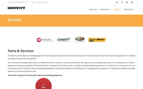 Screenshot of Services Page horvert.co.in - Services - captured Sept. 30, 2018