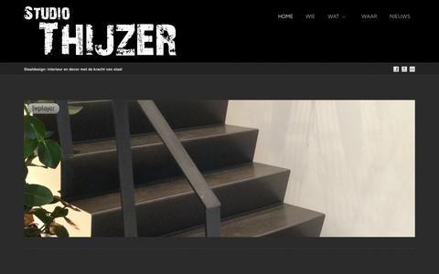 Screenshot of Home Page studiothijzer.nl - Studio Thijzer - Staaldesign: interieur en decor met de kracht van staal - captured Oct. 9, 2014
