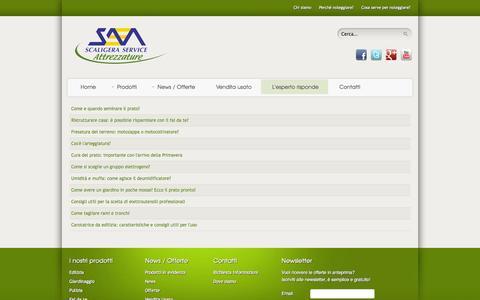 Screenshot of FAQ Page scaligeraattrezzature.it - - Noleggio attrezzature per edilizia, giardinaggio, pulizia e fai da te a Verona - Scaligera Attrezzature - captured Sept. 30, 2014