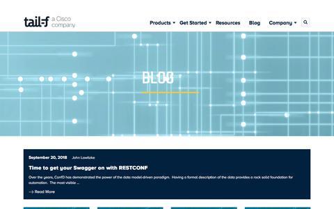 Screenshot of Blog tail-f.com - Blog | Tail-f Systems - captured Sept. 23, 2018