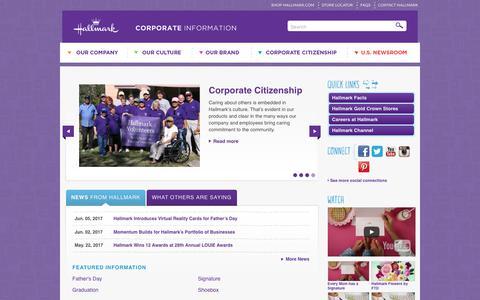 Hallmark Corporate Information | Home