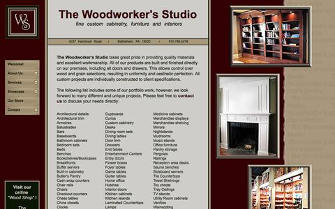 Screenshot of Products Page woodworkerstudio.com - The Woodworker's Studio: Custom Cabinets, Fine Furniture and Custom Woodworking - captured June 19, 2016