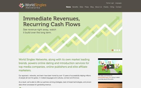 Screenshot of Home Page worldsinglesnetworks.com - World Singles Networks - captured Jan. 30, 2015