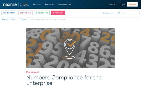 Phone Number Compliance for the Enterprise - Nexmo