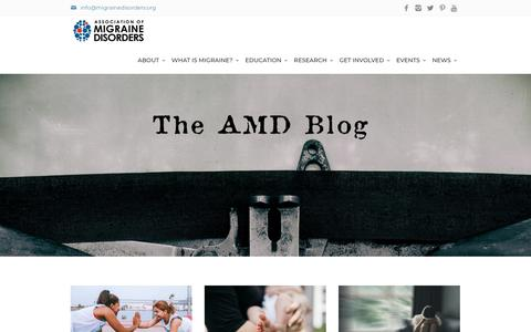 Screenshot of Blog migrainedisorders.org - Association of Migraine Disorders Blog - captured March 22, 2019