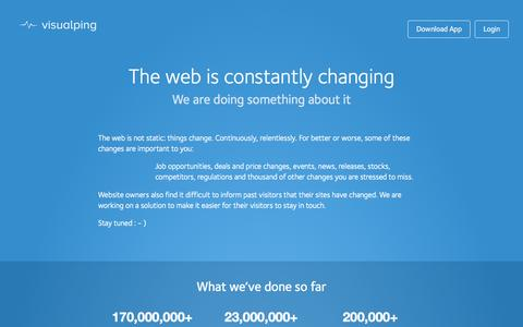 About us: the easiest website change detector app