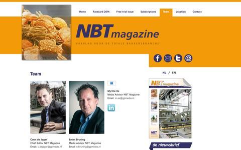 Screenshot of Team Page nbtmagazine.biz - Team - GP Media - captured Oct. 7, 2014