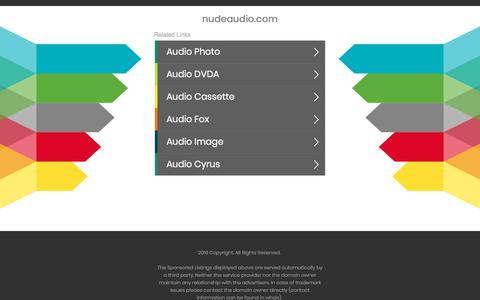 Screenshot of Home Page nudeaudio.com - nudeaudio.com - captured July 11, 2018