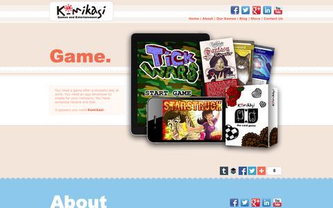 Screenshot of Home Page komikasi.com - Komikasi Games and Entertainment - captured Sept. 6, 2015