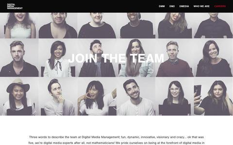 Screenshot of Jobs Page digitalmediamanagement.com - Digital Media Management Jobs - captured Aug. 7, 2018